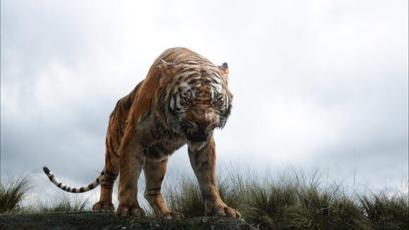 Shere Khan the tiger, voiced by Idris Elba. Yup, he's