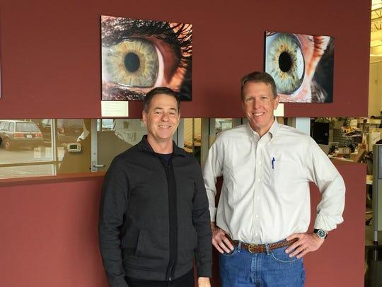 Eyefluence's cofounders, Jim Marggraff, left, and David