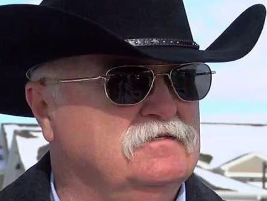 Butler County Sheriff Richard Jones briefs the media
