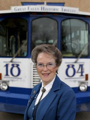 Carol Place, owner of the Great Falls Historic Trolley,