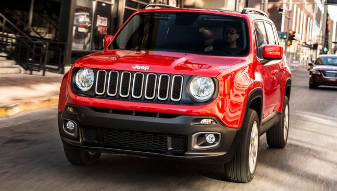 Jeep is showing off its new small SUV, the Renegade.