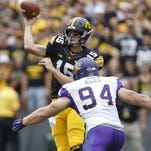 Northern Iowa's Isaac Ales has 7 1/2 sacks this season and will start for the Panthers in Saturday's playoff opener.