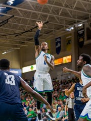 After a tough start with them in this first FGCU season, Eagles junior point guard Brandon Goodwin has gotten alley-oop passes downpat.