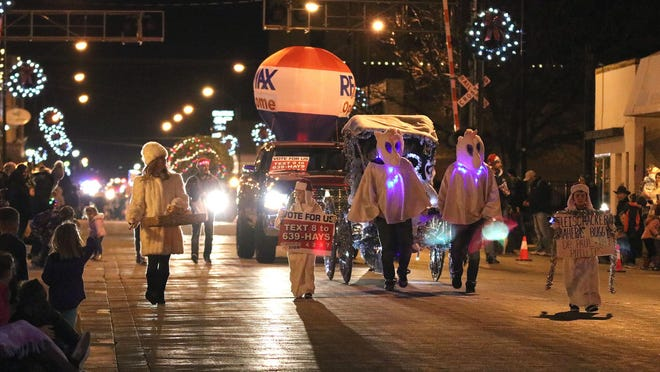 """A traditional Frostfrest parade will not be held this year, but the Downtown Hays Development Corporation is encouraging """"the community to be the Frostfest parade"""" on Dec. 19."""