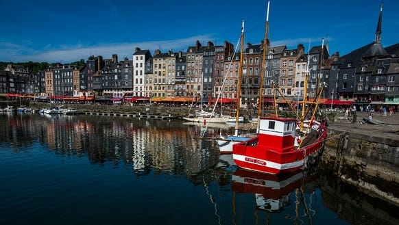 The historic harbor in Honfleur, France