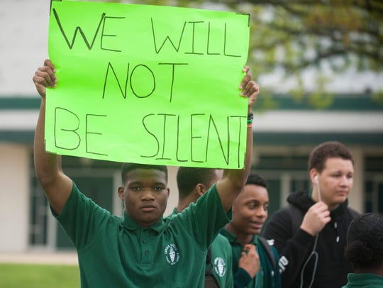 Camden Catholic students rally in front of Camden Catholic