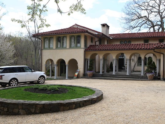 The exterior of the 1932 Tuscan style villa for sale in Croton-on-Hudson photographed, May 6, 2014. The home has 3 bedrooms and 4 1/2 baths.