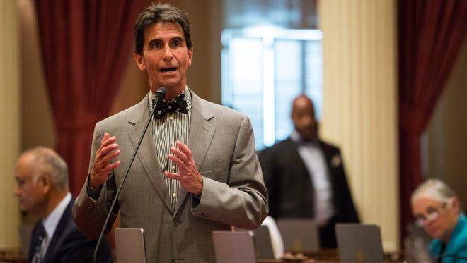 Sen. Mark Leno (D-San Francisco) in the Senate chambers, September 10, 2015 at the State Capitol in Sacramento, California.