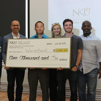 Waiverhawk was awarded a $1,000 prize after being voted the best business idea at Northern Kentucky University's INKUBATOR Demo Day Thursday.
