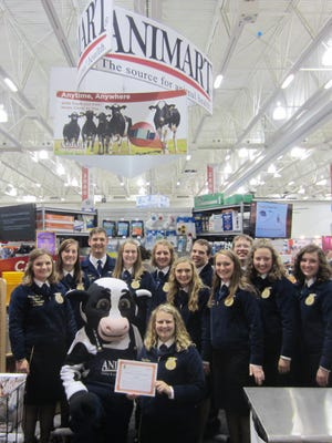 ANIMART is contributing nearly $32,000 to the Wisconsin Association of FFA on behalf of dairy and livestock producers who purchased Zoetis animal health products during a 2015 program.