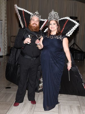 "Marc Broussard and Ann Falgout reign as King and Queen of this years ""Krewe des News"". The Advertiser presents  ""Shaken, Not Stirred""  at the Le Marquise Ballroom. Jan 15, 2016."