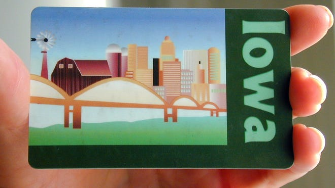 A card for Iowa's food stamp program, formally called the Supplemental Nutrition Assistance Program.