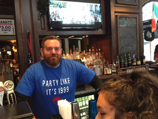A t-shirt worn by Mark Potter, the bartender at Murphy's