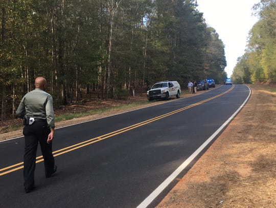 MCSO Capt. Trent Beasley approaches the scene where
