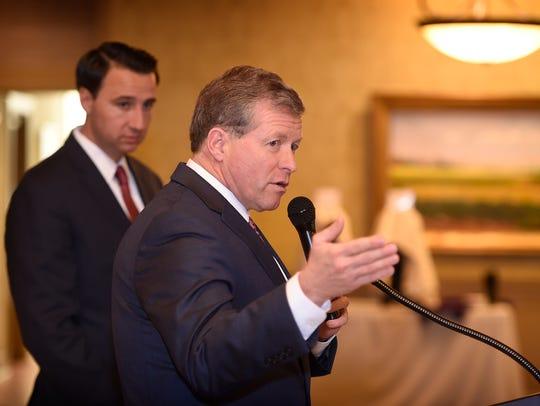 U.S. Congressmen Ryan Costello (left) and Charlie Dent