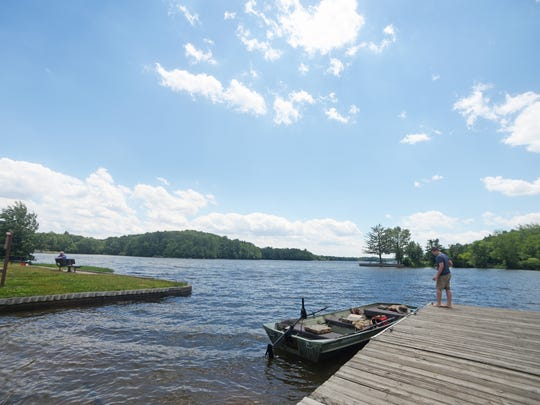 Gifford Pinchot State Park has plenty of lakeside seating