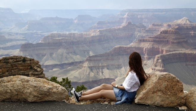 View from Powell Point, Grand Canyon in August.