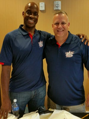 Woodmont High School athletic director Chris Carter, right, will serve as assistant coach on a team managed by former major league star Fred McGriff in this week's USA Baseball 18U Tournament of Stars in Cary, North Carolina.