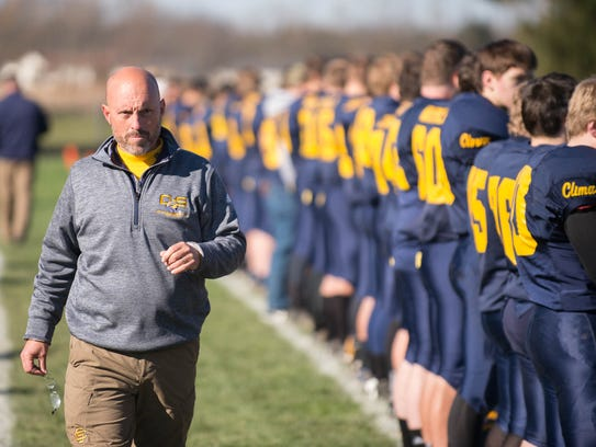 Climax-Scotts's head coach Kevin Langs is the Enquirer