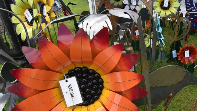 Metal flowers and other peices created by Dave Senkbeil of Sheboygan were among those at last year's Sturgeon Bay Fine Art Fair.