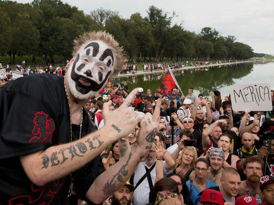 Violent J of Insane Clown Posse before the Juggalo March takes off from the Lincoln Memorial on the National Mall, on September 16, 2017 in Washington, DC.