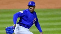 Aroldis Chapman struck out two in 1 1/3 innings to