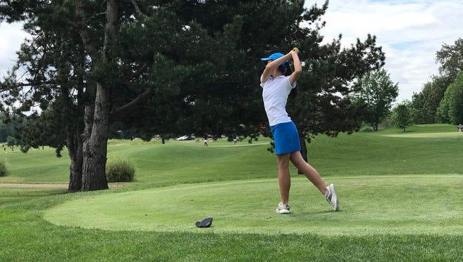 South Salem's Ashley Zhu finished fifth at state.