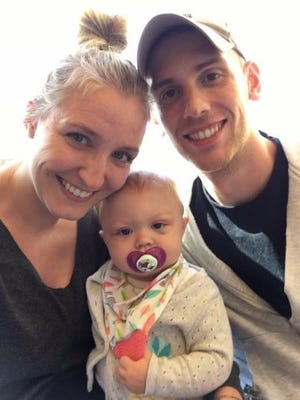 Ten-month-old Laine was diagnosed with a rare form of leukemia on Sept. 17 and has already had her first round of chemo at the American Family Children's Hospital in Madison.