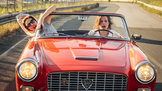 """Two unlikely friends escape a women's mental institution and hit the road in the award-winning Italian comedy """"Like Crazy."""""""