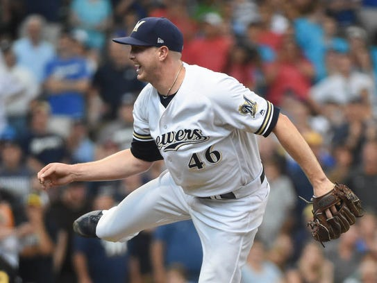 Brewers pitcher Corey Knebel.