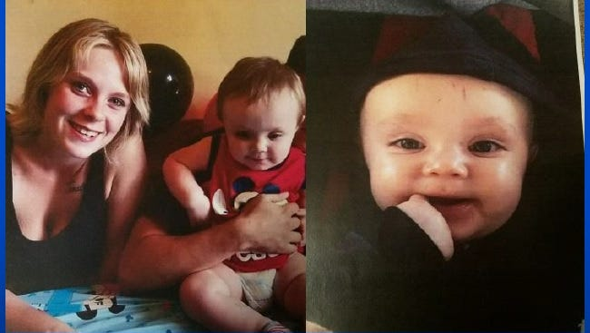 Macalie Hammond, 16, and her 1-year-old son, Jonathan, have been reported missing. Anyone with information about their whereabouts is asked to call police.