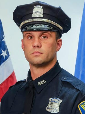 Boston officer John Moynihan's commendations include the department's Medal of Honor in 2014.