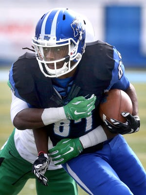 Standout receiver Richie James (87) will look to lead the Blue Raiders' wide receiver group this season.