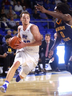 MTSU's Reggie Upshaw Jr. (30) and the Blue Raiders look to remain perfect in C-USA on Thursday.