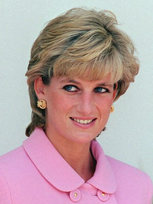This Friday Nov. 24, 1995 file photo shows Diana, Princess of Wales in Buenos Aires during her four-day visit to Argentina.