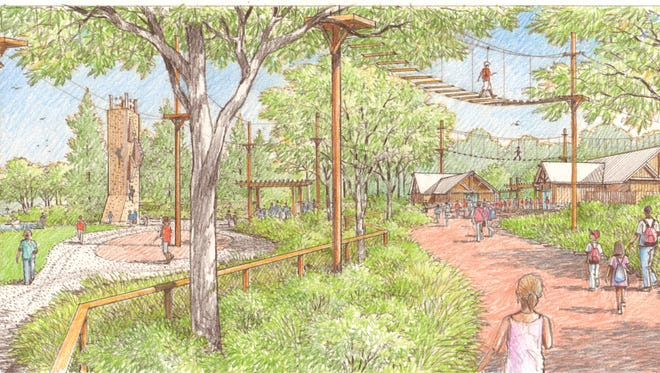 The NEW Zoo & Adventure Park unveiled a new master plan Thursday. In the plan is a new entry plaza with an overhead tree-tops adventure course.