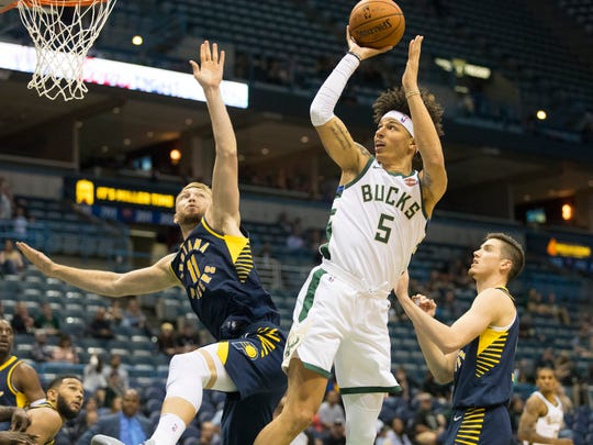 D.J. Wilson, the Bucks' top pick in last summer's draft, didn't see the floor much this season.
