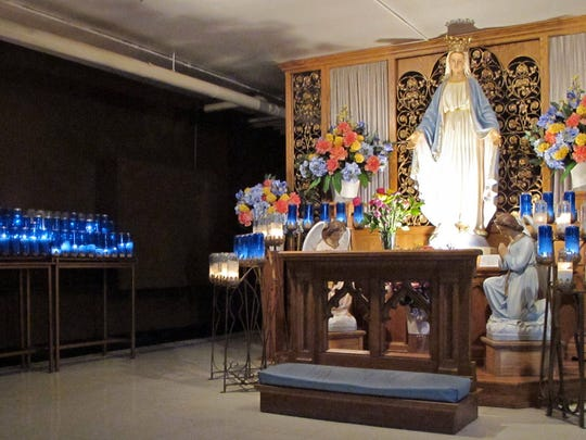 Located 17 miles northeast of Green Bay, the Shrine of Our Lady of Good Help near New Franken is a place of global pilgrimage.