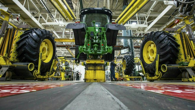 A year ago the John Deere company experienced bottlenecks in its supply chain trying to meet demand.