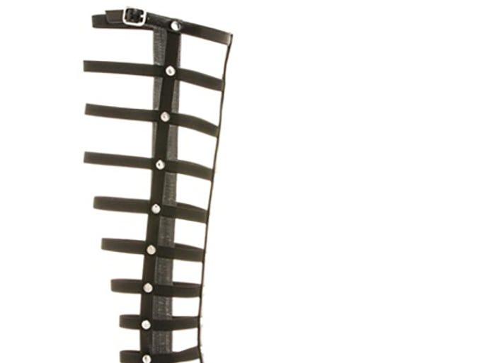 Stuart Weitzman gladiator sandal, $398, stuartweitzman.com.