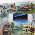 A preliminary sketch of a new mural depicting Canandaigua's history, to be displayed on Canandaigua's Main Street by summer 2016.