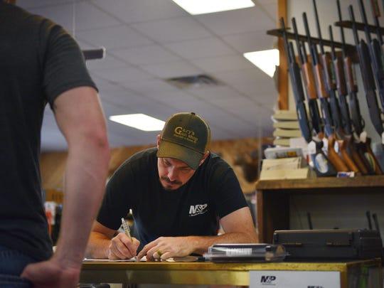 Manger at Gary's Gun Shop, Anthony Naatjes, writes