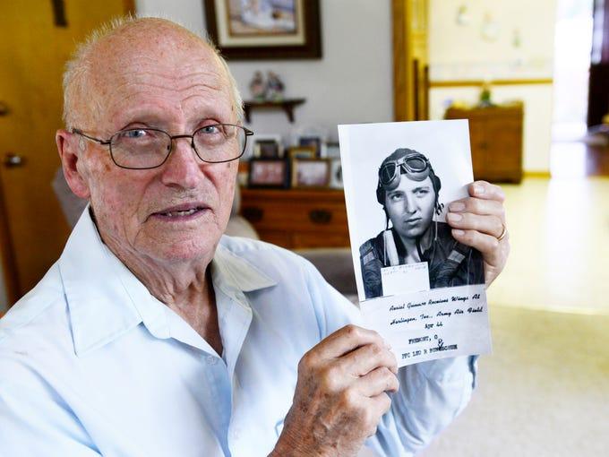 Leo Bundschuh, 92, of Fremont fired double .50 caliber