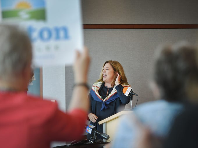 Former Republican Michelle Lavallee sees a crowd of
