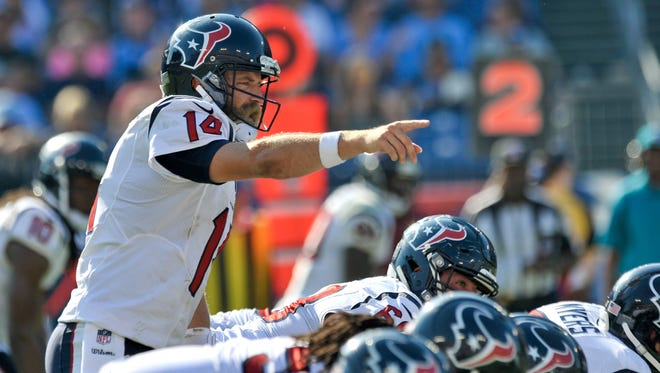 Ryan Fitzpatrick has led the Texans to four wins so far, double their total in 2013.