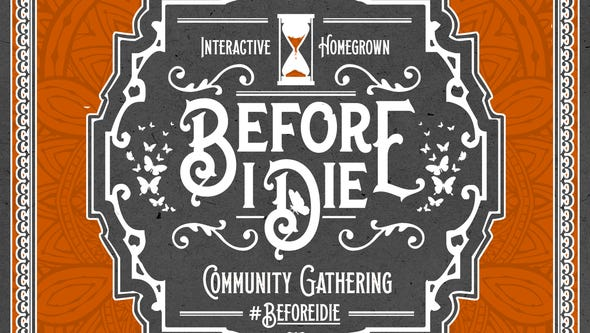 The #BeforeIDie interactive event to confront the once-taboo
