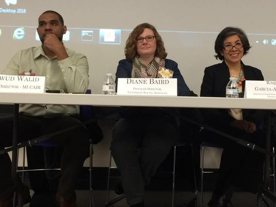 Dawud Walid, Diane Baird and Raquel Garcia-Anderson served as panelists at the forum.