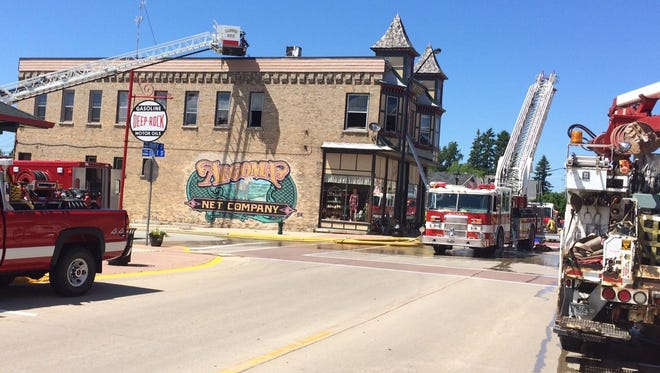 Firefighters from Algoma, Kewaunee, Casco and Luxemburg made quick work of an apartment fire in downtown Algoma on Sunday afternoon.