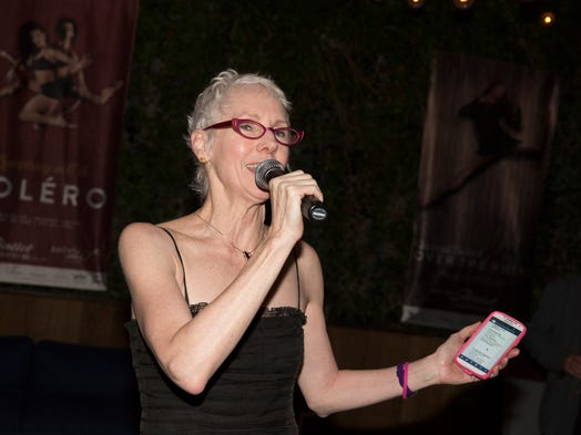 Artistic director and CEO Victoria Morgan speaks at the Cincinnati Ballet afterparty at the Maritime Hotel in Manhattan, New York, on Saturday, May 10, 2014. The party served as the grand finale for Cincinnati Ballet's 50th anniversary season.