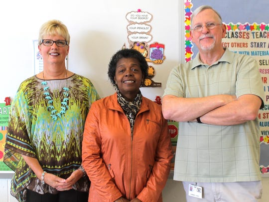 From left, Krista Perdue, LaVerne Harmon and Gary Harmon are all retiring from Bennett Middle at the end of this school year.